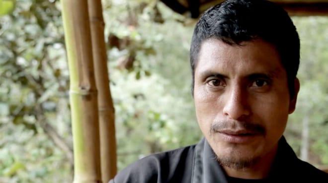 Retrato de Simón Pedro Pérez López, miembro de Las Abejas de Acteal, defensor de derechos humanos asesinado el 5 de julio de 2021