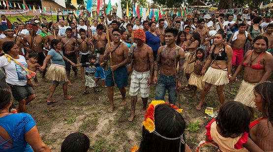 Indígenas Mundurukú de Brasil